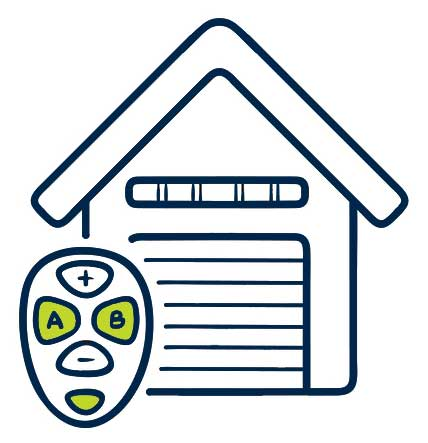 Garage Door and remote illustration